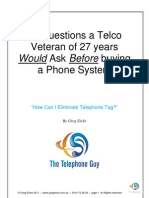 16 Questions a 27 Year Telco Veteran Would Ask Before Buying a Phone System