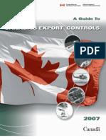 Canadianexportcontrols2007 En