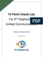 IP Telephony Check List