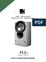 KEF iQ3 Service Manual
