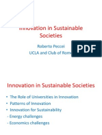 Innovation in Sustainable Societies - Roberto Peccei