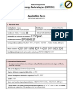 Application Form ENTECH