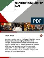 Brown Entrepreneurship Program Spring Newsletter