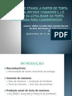 PRODUÇÃO DE ETANOL A PARTIR DE TORTA DE