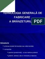 TEHNOLOGIA GENERALĂ DE FABRICARE  A BRÂNZETURILOR