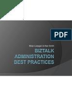 BizTalk Administration Best Practices