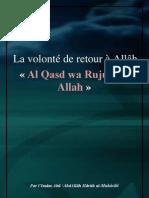 La volonté de retour à Allâh