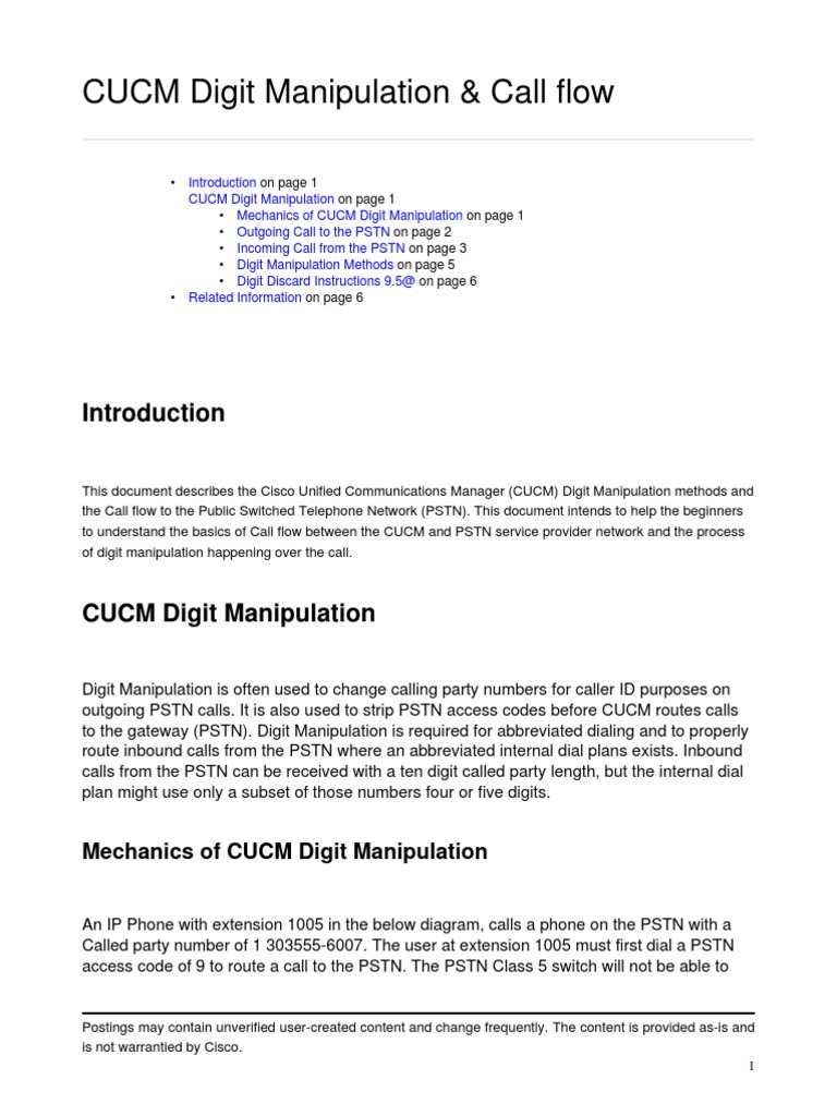 CUCM Digit | Telephone Numbering Plan | Public Switched