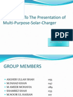Presntation of Project Solar Chareger