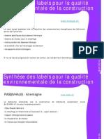 Labels Construction Environnementale _résumé susCities2008