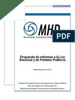 MHD - Propuesta de reformas a la Ley Electoral y de Partidos Políticos