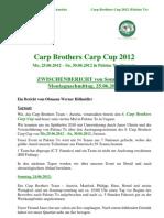 Zwischenbericht Montagagabend Carp Brothers Carp 2021_Palotas To