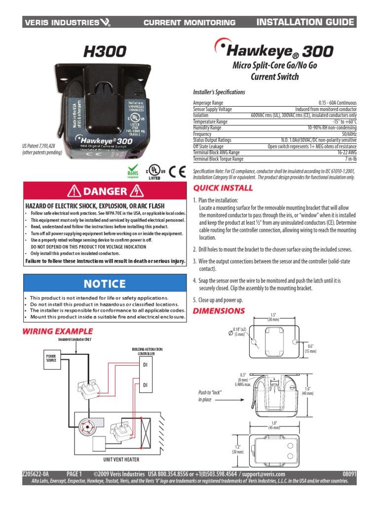 hawkeye micro split current switch switch electrical wiring rh scribd com