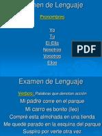 Examen de Lenguaje