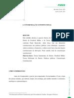 A CONCRETIZAÇÃO CONSTITUCIONAL - MULLER vs BONAVIDES