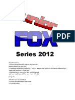 Junior FOX 2012 Rules