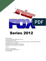 Junior FOX 2012 Rules
