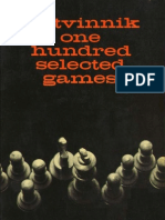 Chess - Botvinnik, Mikhail M[1]. - One Hundred Selected Games (1949)
