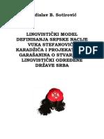 Sotirovic Lingvisticki Model Definisanja Srpske Nacije