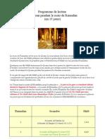 Programme de Lecture Du Coran en 15 Jours