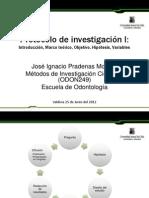 Clase Protocolo de investigación I