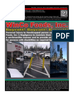 Manifesto for BOYCOTT of WinCo Foods, Inc. for negligence under the Americans with Disabilities Act.