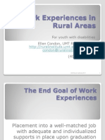 Work Experiences Rural Final
