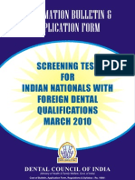 Application Form Screening Exam 2009