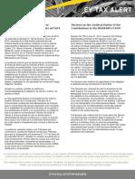 Tax  Alert - Sentencia de la naturaleza jurídica de los aportes FAOV