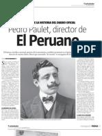 Pedro Paulet, director de El Peruano.