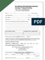 2011 SMU Senior Leadership Conference Application