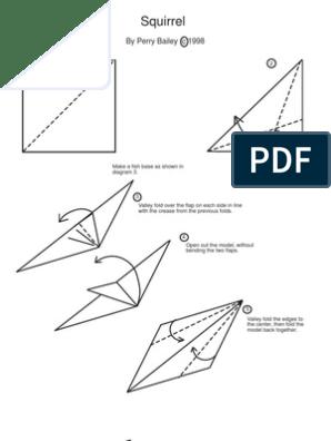 Origami Squirrel - video | Origami easy, Origami tutorial easy ... | 396x298