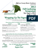 Fall Gardening Symposium