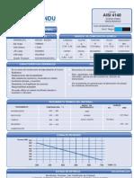 Especificaciones Acero AISI 4140