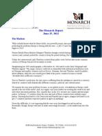 The Monarch Report 6-25-2012