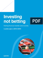 Investing Not Betting Finance Watch Position Paper on MiFID 22