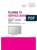 ServiceManuals LG TV PLASMA 50PJ350 50PJ350 Service Manual
