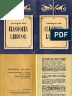 Catalogue des Classique Larousse