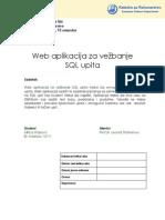 Web Aplikacija Za Vezbanje SQL Upita Milica Stojkovic Ispravke by Jelena 13111