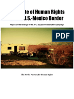 The State of Human Rights on the U.S.-mexico Border, 2012, By BNHR