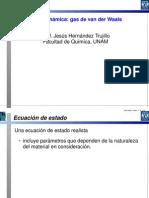 Ecuacion De Estado De Van Der Waals