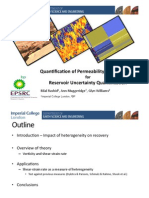 Quantification of Permeability Heterogeneity for Reservoir Uncertainty Quantification
