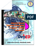 Internet Based Distance Education Program (IDEP) Handbook OPEN HIGHSCHOOL PROGRAM