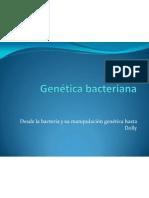 Genética bacteriana 2011