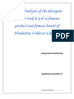SWOT Analysis of the Detergent Powder Surf Excel