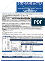 Bluefield Blue Jays Game Notes 6-25