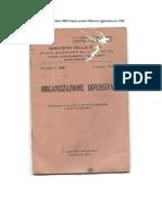 1948 SME Circolare 3000 Organizzazione Difensiva Aggiornata Nov 1950