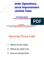 Call Center Operations Improvement Business Case - Sample Presentation