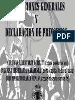 Declaración de Principios de la FACA (Federación Anarco-Comunista de Argentina) - Año 2012