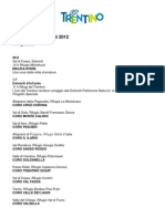 I Suoni delle Dolomiti, programma completo 2012
